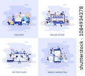 modern flat concept web banner... | Shutterstock .eps vector #1084934378