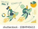 business infographics with... | Shutterstock .eps vector #1084940612