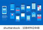 ux ui flowchart. mock ups ... | Shutterstock .eps vector #1084942448