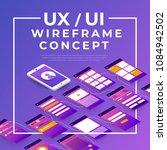 ux ui flowchart. mock ups ... | Shutterstock .eps vector #1084942502