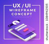 ux ui flowchart. mock ups ... | Shutterstock .eps vector #1084942505