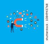 target market concept ... | Shutterstock .eps vector #1084943768