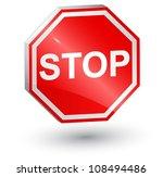 vector illustration of stop... | Shutterstock .eps vector #108494486