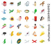 voyage icons set. isometric... | Shutterstock . vector #1084944992