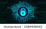 safety concept  closed padlock... | Shutterstock .eps vector #1084948442