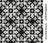 black and white seamless ethnic ... | Shutterstock .eps vector #1084948865
