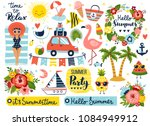 summer set  hand drawn elements ... | Shutterstock .eps vector #1084949912
