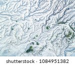 Aerial View Of Snow Mountain...