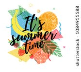 design print for summer season. ... | Shutterstock .eps vector #1084955588