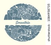 smoothie and ingredients for... | Shutterstock .eps vector #1084958735