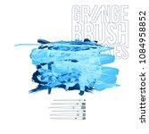 blue brush stroke and texture.... | Shutterstock .eps vector #1084958852