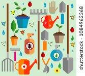 gardener's kit. vector... | Shutterstock .eps vector #1084962368