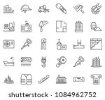 thin line icon set   office... | Shutterstock .eps vector #1084962752