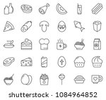 thin line icon set   coffee... | Shutterstock .eps vector #1084964852