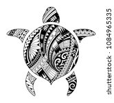 maori style tattoo shaped as... | Shutterstock .eps vector #1084965335