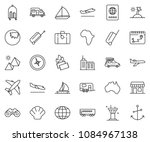 thin line icon set   plane... | Shutterstock .eps vector #1084967138