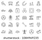 thin line icon set   factory... | Shutterstock .eps vector #1084969235