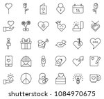 thin line icon set   pacific... | Shutterstock .eps vector #1084970675