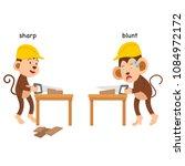 opposite sharp and blunt vector ... | Shutterstock .eps vector #1084972172