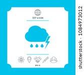 cloud thunderstorm lightning... | Shutterstock .eps vector #1084973012