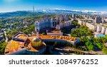 panoramic view of almaty city ... | Shutterstock . vector #1084976252