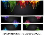 illustration of banners with... | Shutterstock . vector #1084978928