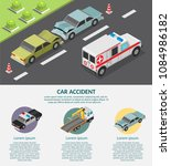 isometric low poly accident... | Shutterstock .eps vector #1084986182