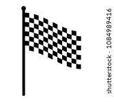 checkered racing flag icon.... | Shutterstock .eps vector #1084989416