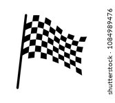 checkered racing flag icon.... | Shutterstock .eps vector #1084989476