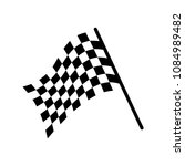 checkered racing flag icon.... | Shutterstock .eps vector #1084989482