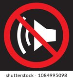 no sounding flat symbol icon.... | Shutterstock .eps vector #1084995098