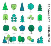 colored different trees icons... | Shutterstock .eps vector #1084999796