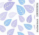 seamless pattern with leaf.... | Shutterstock .eps vector #1085005856