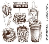 street food festival menu.... | Shutterstock .eps vector #1085007542