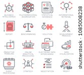 vector set of flat linear icons ...   Shutterstock .eps vector #1085008238