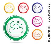 moon and cloud icon | Shutterstock .eps vector #1085008916