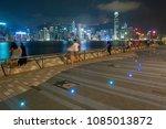 night scene of victoria harbor... | Shutterstock . vector #1085013872