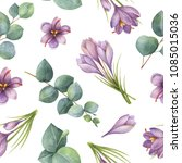 watercolor seamless pattern... | Shutterstock . vector #1085015036