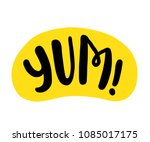 yum text. only one single word. ... | Shutterstock .eps vector #1085017175