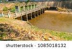sluice gate  gates concrete... | Shutterstock . vector #1085018132
