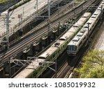 japan railway train track... | Shutterstock . vector #1085019932