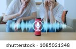 smart speaker concept. ai... | Shutterstock . vector #1085021348