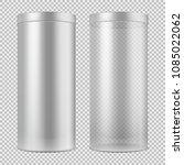 realistic 3d empty transparent... | Shutterstock .eps vector #1085022062
