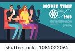 film cinema festival poster.... | Shutterstock .eps vector #1085022065