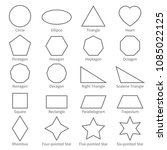 Basic Geometric Outline Flat...