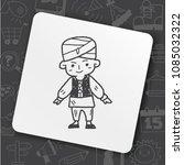 indian people doodle | Shutterstock .eps vector #1085032322