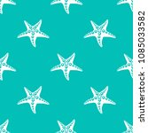 simple pattern with blue sea... | Shutterstock .eps vector #1085033582