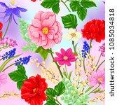 floral seamless pattern ... | Shutterstock .eps vector #1085034818