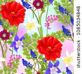 floral seamless pattern ... | Shutterstock .eps vector #1085034848