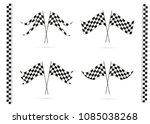 speed flags. vector flag... | Shutterstock .eps vector #1085038268